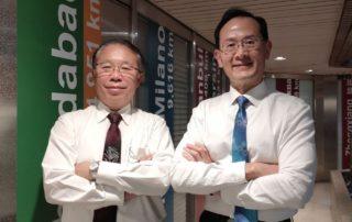 圖左為永光化學電子化學事業營業處長孫哲仁,右為永光化學總經理陳偉望。